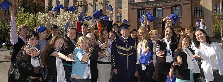 Rector and students