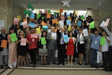 Иностранные студенты юургу приняли