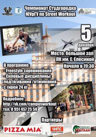 Чемпионат студгородка ЮУрГУ по Street Workout